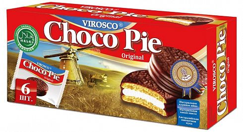 Keksi Choco Pie Original VIROSCO 6 pcs.